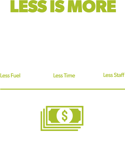 Less Is More Lower Operating Costs